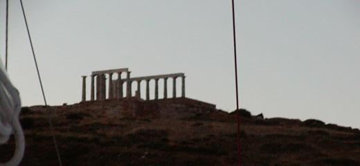 The Temple of Poseidon at Sunrise