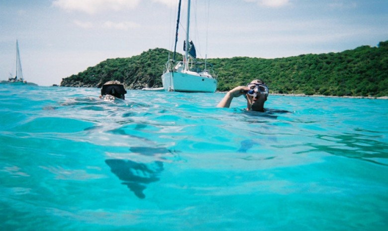 Snorkling In The Blue Waters