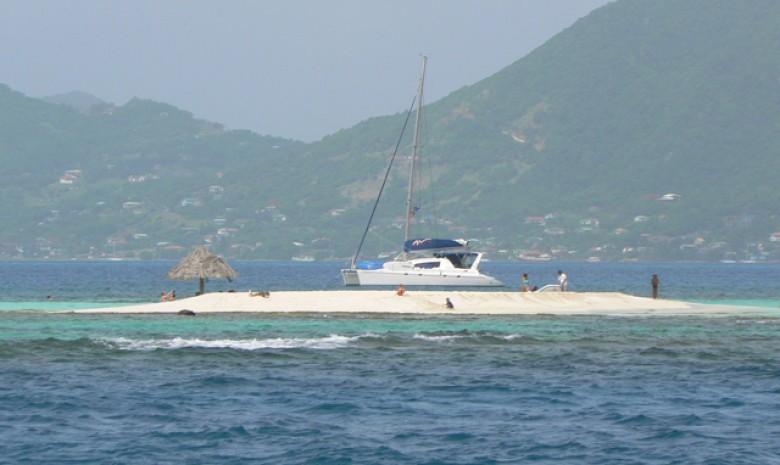 Sandbar In Paradise